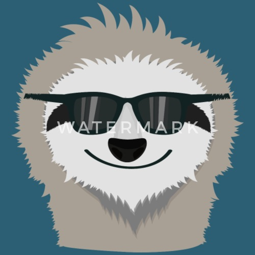 sloth with sunglasses shdn7 by kelzo spreadshirt