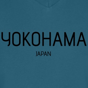 yokohama - Men's V-Neck T-Shirt by Canvas