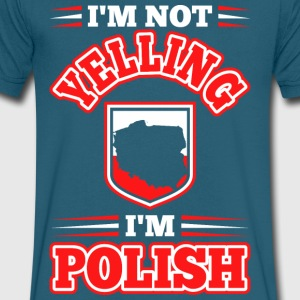 Im Not Yelling Im Polish - Men's V-Neck T-Shirt by Canvas