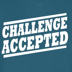 Challenge Accepted - Men's V-Neck T-Shirt by Canvas