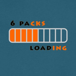6 Packs Loading - Men's V-Neck T-Shirt by Canvas