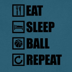 EAT SLEEP BALL REPEAT - Men's V-Neck T-Shirt by Canvas