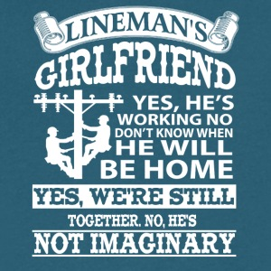Lineman Girlfriends Shirts - Men's V-Neck T-Shirt by Canvas