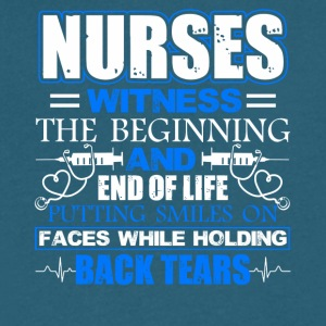 Nurse Witness Tee Shirt - Men's V-Neck T-Shirt by Canvas
