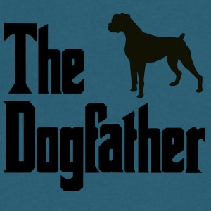 The Dog Father Boxer - Men's V-Neck T-Shirt by Canvas