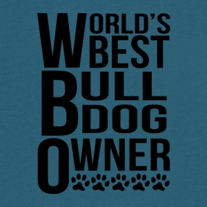 World's Best Bulldog Owner - Men's V-Neck T-Shirt by Canvas