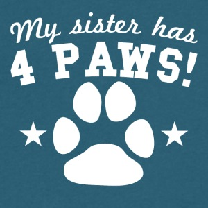 My Sister Has 4 Paws - Men's V-Neck T-Shirt by Canvas
