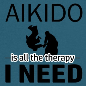 Aikido is my therapy - Men's V-Neck T-Shirt by Canvas