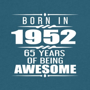 Born in 1952 65 Years of Being Awesome - Men's V-Neck T-Shirt by Canvas