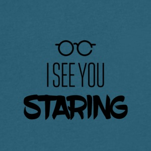 I see you staring - Men's V-Neck T-Shirt by Canvas