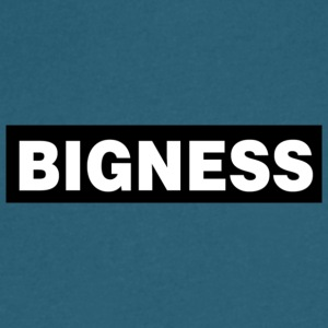 BIGNESS Black - Men's V-Neck T-Shirt by Canvas