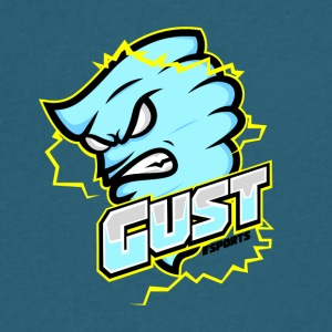 Gust eSports Light Blue Apparel - Men's V-Neck T-Shirt by Canvas