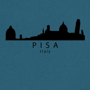 Pisa Italy Skyline - Men's V-Neck T-Shirt by Canvas