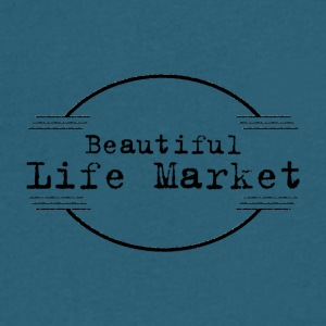 Beautiful Life Market - Men's V-Neck T-Shirt by Canvas
