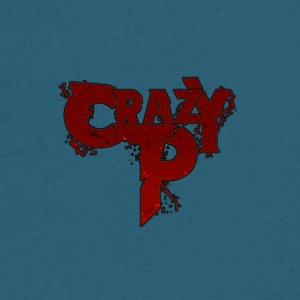 Crazy P Logo Zombie Red - Men's V-Neck T-Shirt by Canvas