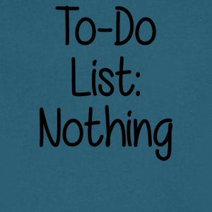 TO DO LIST NOTHING - Men's V-Neck T-Shirt by Canvas