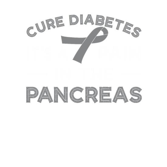 Cure Type 1 Diabetes Its Pin Pancreas Men's V-Neck T-Shirt