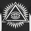 Eye of providence by Control Z Clothing - Unisex Tri-Blend T-Shirt