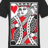 King of Hearts Vector - Unisex Tri-Blend T-Shirt