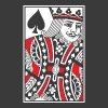 King of Spades Vector - Unisex Tri-Blend T-Shirt