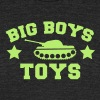 BIG BOYS TOYS with a tank and stars - Unisex Tri-Blend T-Shirt