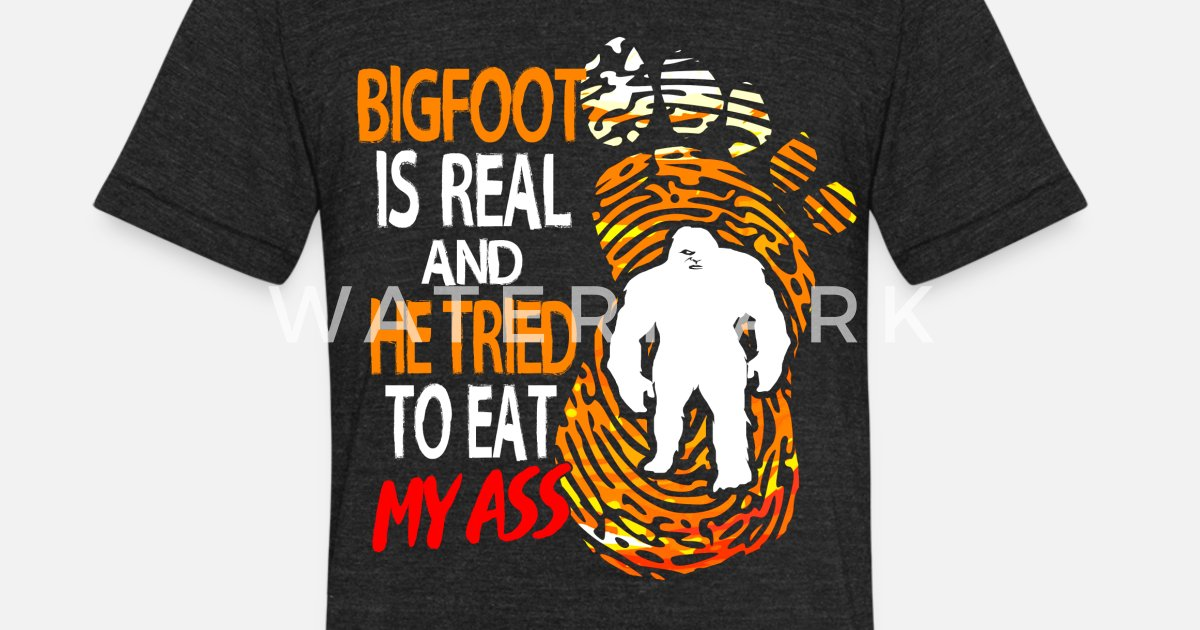 96302b9f4 Unisex Tri-Blend T-ShirtBigfoot Sasquatch Big Foot Hide Seek Champion Yeti