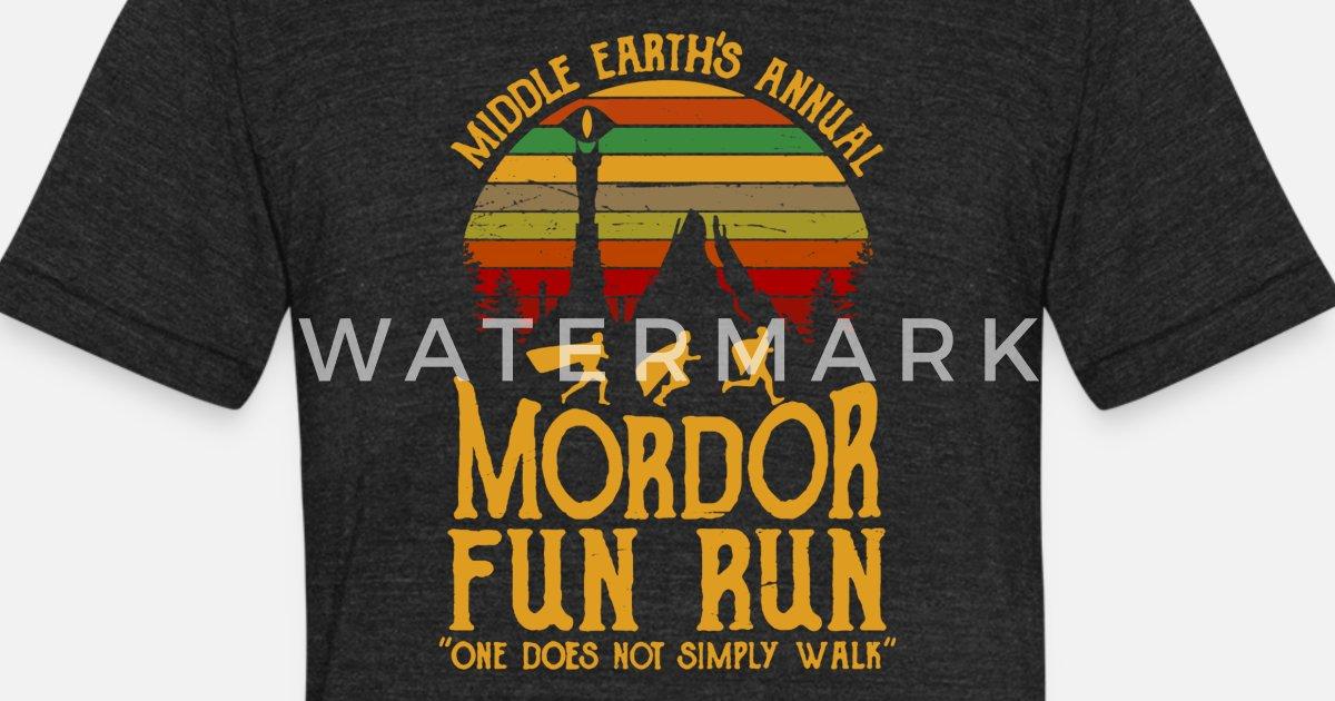 12794802 Middle Earth s Annual Mordor Fun Run Unisex Tri-Blend T-Shirt   Spreadshirt