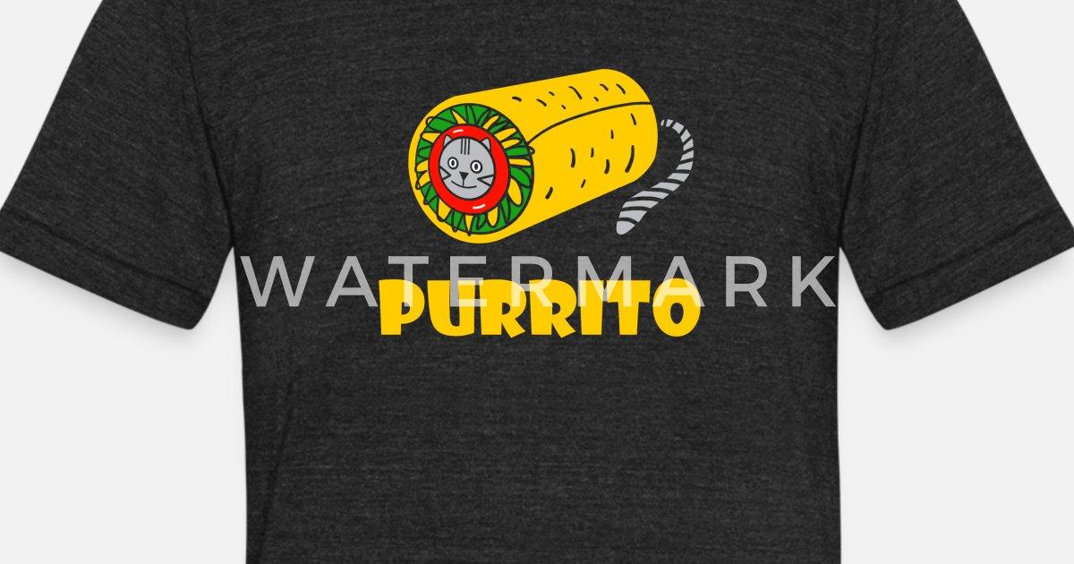 138c401090a Purrito T-Shirt Cat Lover Funny Kitty Kitten Burri Unisex Tri-Blend T-Shirt
