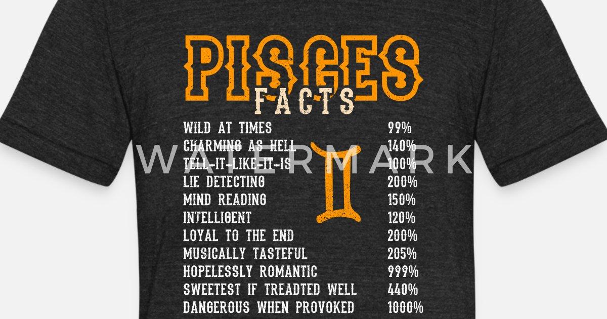 Pisces Zodiac Sign  Birthday Cute Gift Heather Black Men/'s Tri-Blend T-Shirt