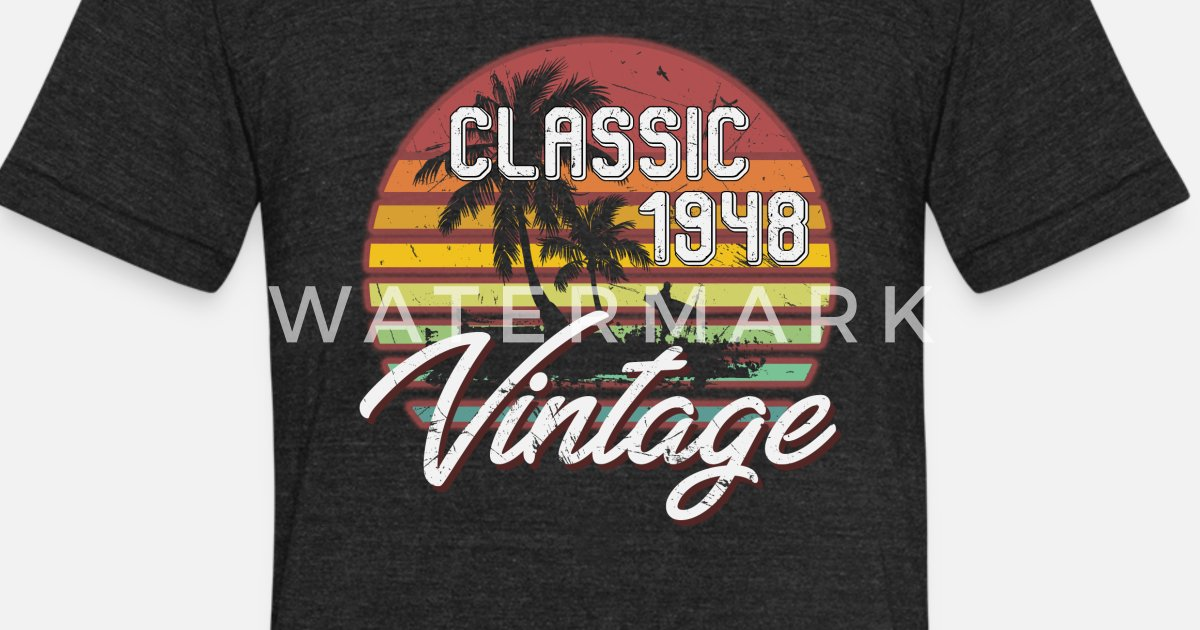 Unisex Tri Blend T Shirt70th Birthday Gifts Retro Vintage 1948 Shirt