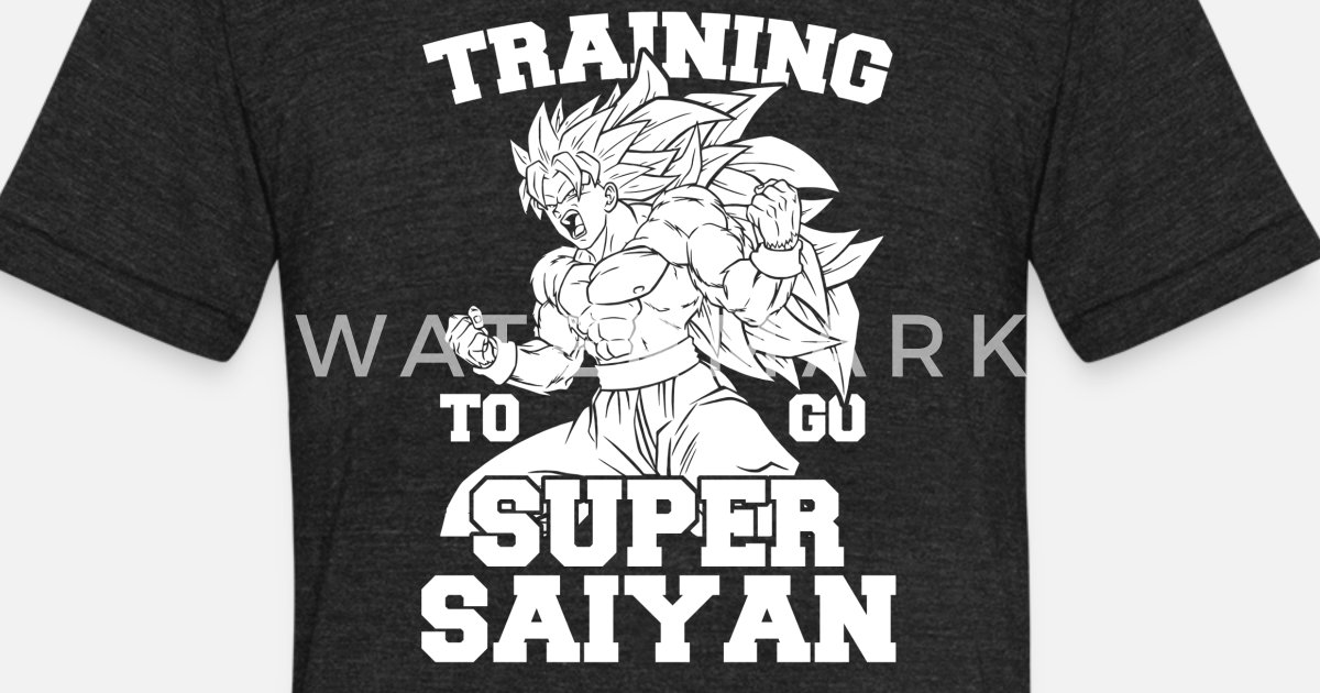 bdb1f9f3 Dragon Ball Lifting - Training to go super Saiya Unisex Tri-Blend T-Shirt |  Spreadshirt