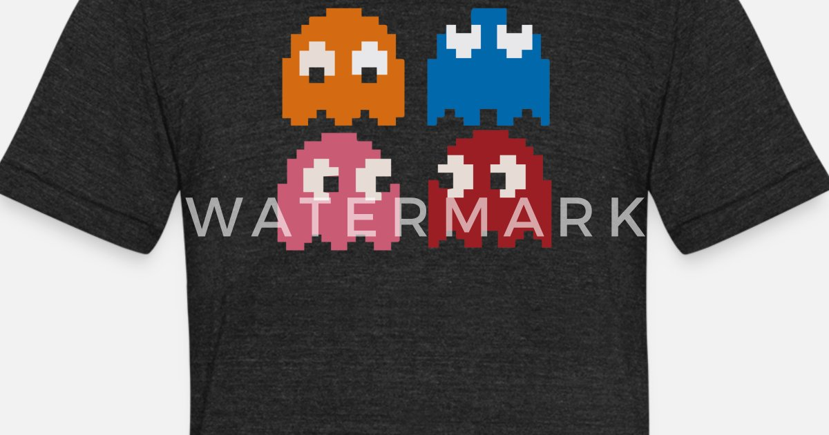 e3ca8bd1 Cool Retro 80s PACMAN GHOSTS Video Games Unisex Tri-Blend T-Shirt |  Spreadshirt
