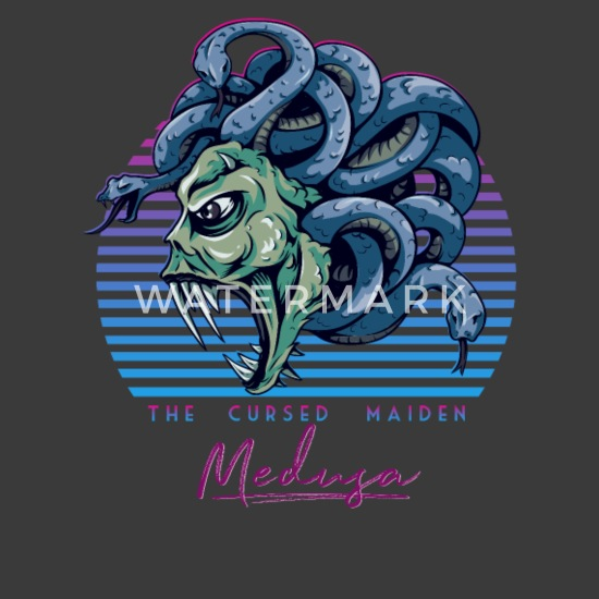 Medusa Snake Head Greek Mythology 80s Neon Retro Unisex Tri