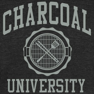 Charcoal University - Unisex Tri-Blend T-Shirt by American Apparel