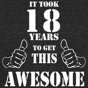 18th Birthday Get Awesome T Shirt Made in 1999 - Unisex Tri-Blend T-Shirt by American Apparel