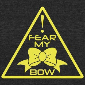 CheerleaderCollection Fear My Bow Multicolor - Unisex Tri-Blend T-Shirt by American Apparel