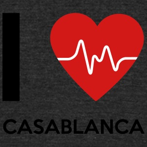 I Love Casablanca - Unisex Tri-Blend T-Shirt by American Apparel