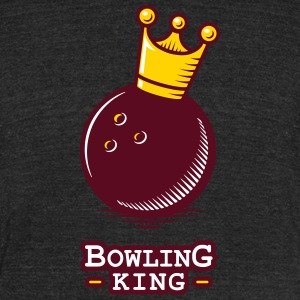 Bowling King - Unisex Tri-Blend T-Shirt by American Apparel