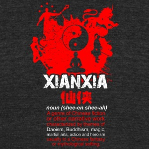 Xianxia black - Unisex Tri-Blend T-Shirt by American Apparel