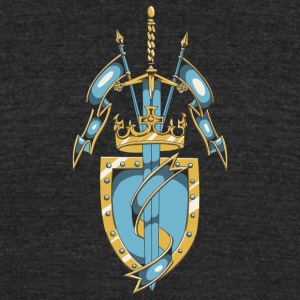 shield_with_flags_and_crown - Unisex Tri-Blend T-Shirt by American Apparel