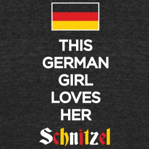 SCHNITZEL - THIS GERMAN GIRL LOVES HER SCHNITZEL - Unisex Tri-Blend T-Shirt by American Apparel