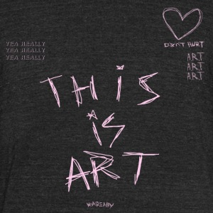 Scribble Art - Unisex Tri-Blend T-Shirt by American Apparel