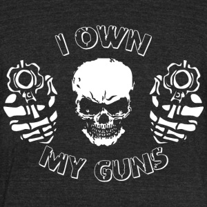 i own my guns - Unisex Tri-Blend T-Shirt by American Apparel