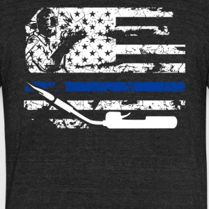 Welder Flag Shirt - Unisex Tri-Blend T-Shirt by American Apparel