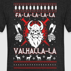 Valhalla Ugly Christmas Shirt - Unisex Tri-Blend T-Shirt by American Apparel