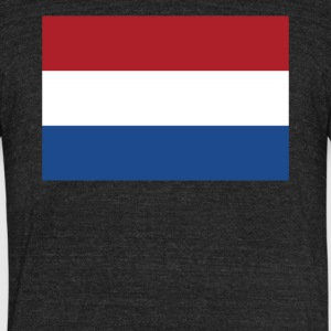Flag of the Netherlands Cool Dutch Flag - Unisex Tri-Blend T-Shirt by American Apparel