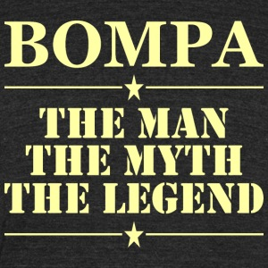Boompa The Man The Myth The Legend - Unisex Tri-Blend T-Shirt by American Apparel