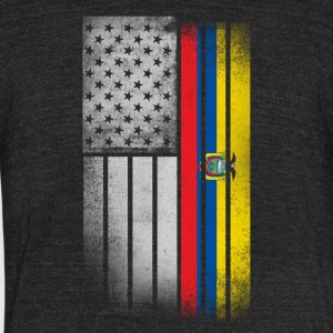 Ecuadorean American Flag - Unisex Tri-Blend T-Shirt by American Apparel