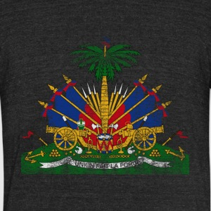 Haitian Coat of Arms Haiti Symbol - Unisex Tri-Blend T-Shirt by American Apparel