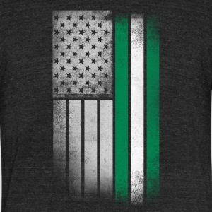 Nigerian American Flag - Unisex Tri-Blend T-Shirt by American Apparel